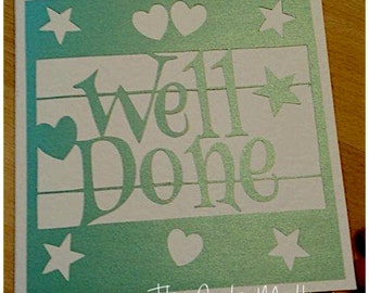 Well Done Paper Cutting Template - Commercial Use