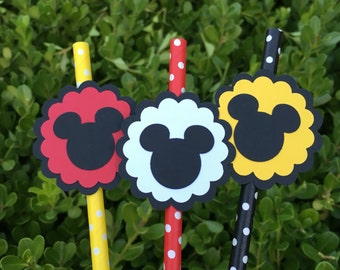 Mickey Mouse Paper Straws