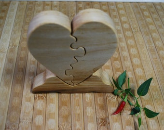 Heart Puzzle, Wooden Heart , Valentin day gift, Woooden Decor, Home decor Holidays Gift, Wooden heart, Heart puzzle