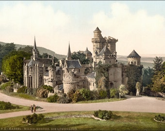 24x36 Poster . Loewenburg Castle In Kassel 1890 Photochrom