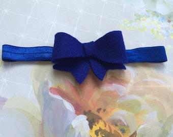 Bow Headband. Infant Headband- Pick 1 color