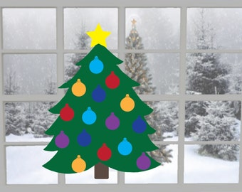 Build Your Own Christmas Tree! Customizable Vinyl Decal