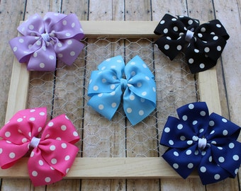 SALE Set of 5 polka dot pinwheels!