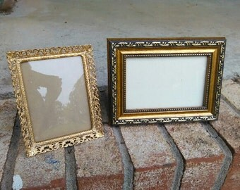 Gold Victorian Picture Frames For 3 x 4 And 3 x 5 Photo's/Antique Gold Metal Photo Frames/ Antique Photo Frames