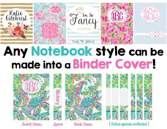 Printable Binder Covers - You Pick the Cover Style!