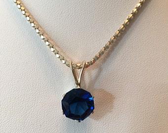Blue Quartz & Sterling Pendant
