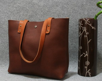20%OFF,leather tote bag ,handmade leather bag ,tote bag ,large leather bag,dark brown leather bag,borsa