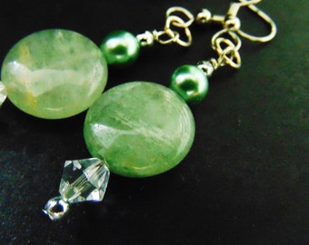 pale green stone....earrings