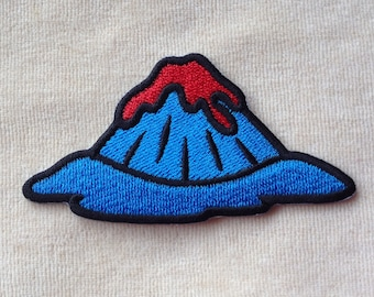 Volcano Hot Lava Iron On Embroidery Patch