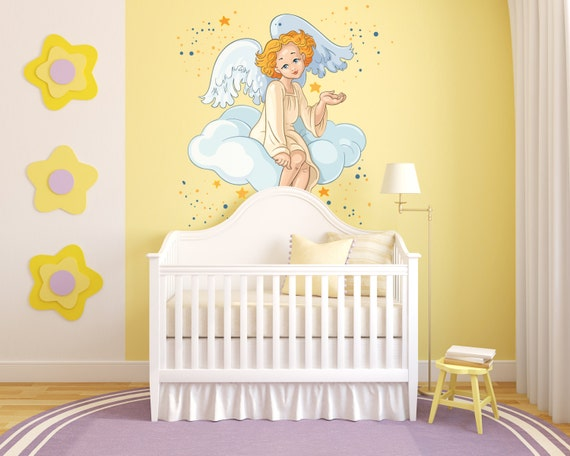 Angel Watching Over Wall Decal by GoGoDragonBusiness