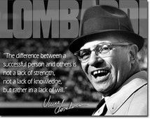 "Vintage Style "" #S1727 Vince Lombardi "" Tin Sign 16""x12"""