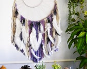 Large Custom 2' x 4' purple silver dreamcatcher