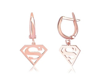 Super-girl silver earrings