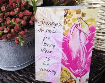 Floral 'Sianna' Thankyou Cards - Wedding Stationery - Personalised and Printed