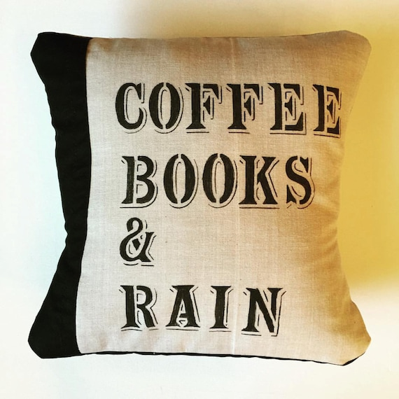 John Cotton Books: Items Similar To Coffee Books And Rain Pillow Cover And