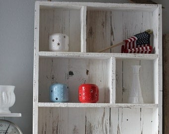 Reclaimed Wood Shelves, Cubby Shelf, Pallet Wood Shelf, Country Cottage Decor, Entryway Shelf,Bathroom Shelf,