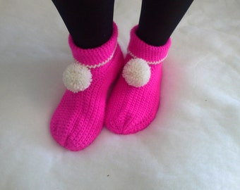 Allegre pantofole di lana -  Wool Slippers - Babbucce - scarpe - calze - crochet - uncinetto Handmade - Made in Italy
