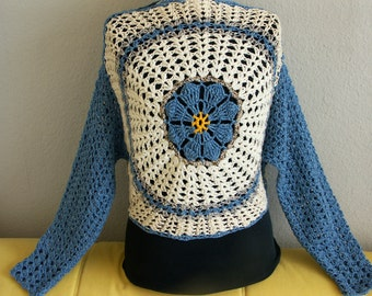 Sweater crochet around - will be delivered postage free