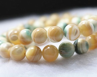 natural  MOP Shell Round Beads,6mm 8mm,15 inches 1 strand