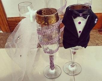 wedding toasting glass