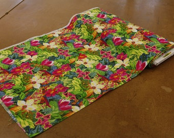 Tropical Floral Quilting Fabric By The Yard