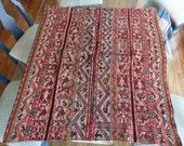 Handmade Fine Handwoven Vintage Peruvian Wool Tapestry Rug Blanket