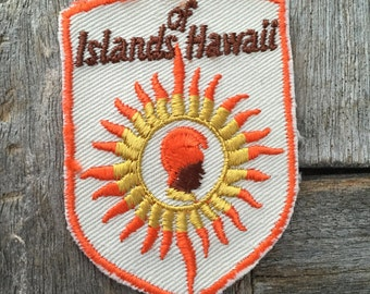 Islands of Hawaii Vintage Souvenir Travel Patch from Voyager