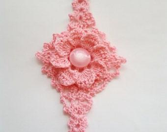 Bracelet Jewelry Crochet Cuff Bracelet Crochet jewelry  Unique Bracelet Unique Artisan Jewelry  Flower Bracelet