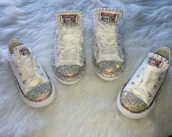 Diamond & Pearls Custom Converse