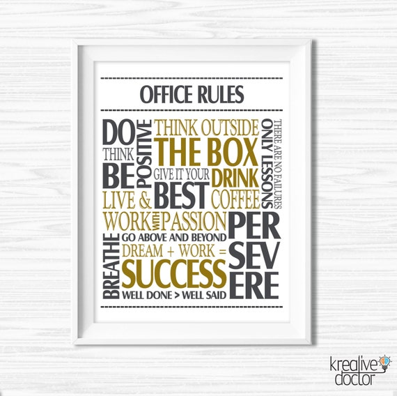 Motivational office framed art