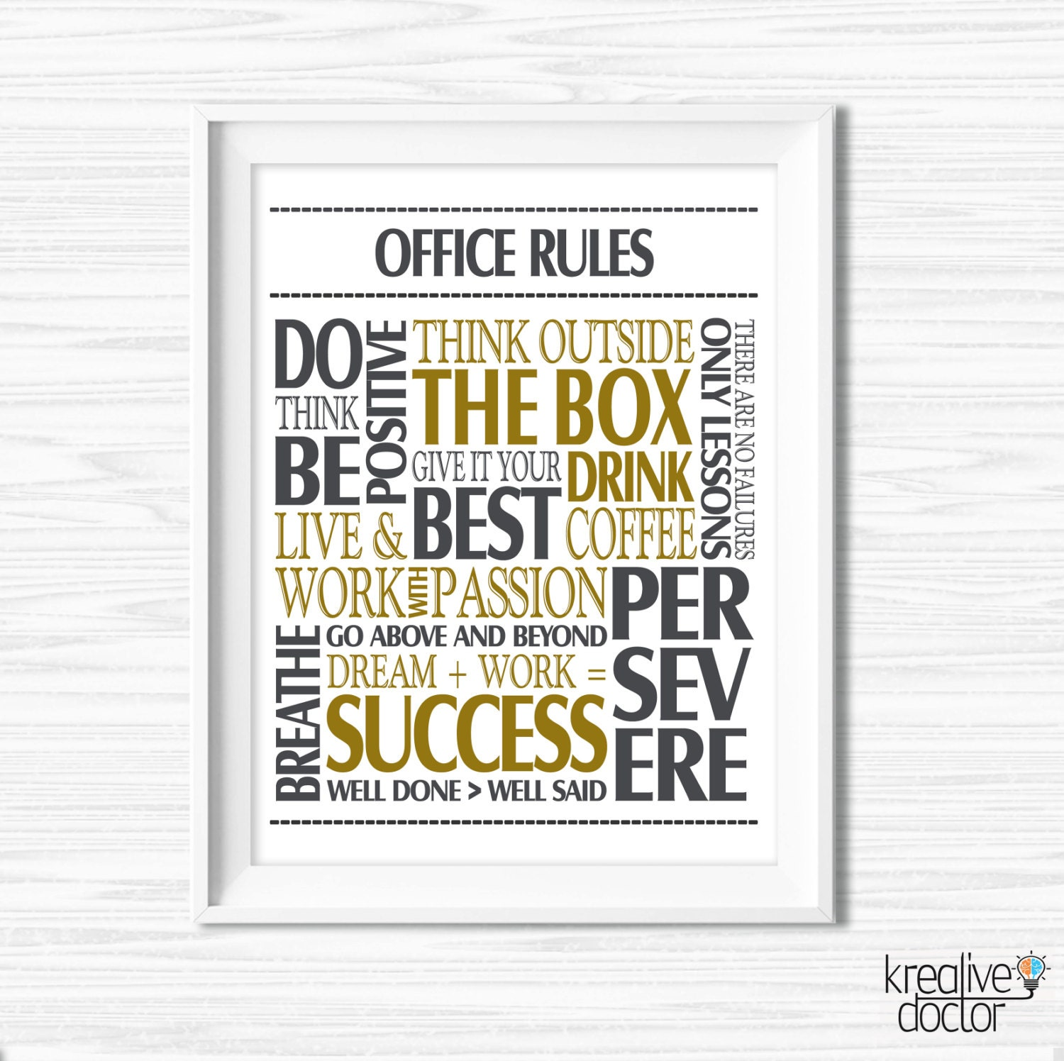 Office Wall Art Motivational Wall Decor Inspirational Quote