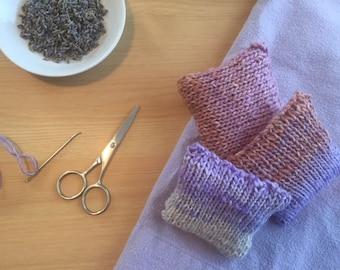 Hand Knit Lavender Sachet