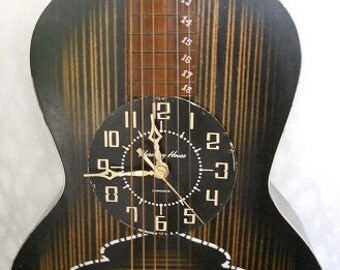 Vintage Slide Guitar Wall Clock