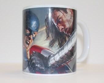 Capt America Winter Soldier Ceramic Coffee Mug