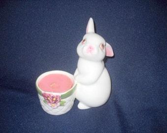 Avon Bunny Candle Holder, 1980