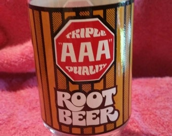 Triple AAAQuality Root Beer glass tumbler