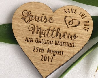 Save the date magnet, wooden save the dates, wooden wedding magnets S2