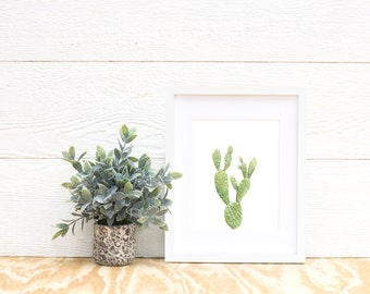 Bunny Ear Cactus Print - cactus painting - cacti - cactus watercolor - southwestern painting - greenery - cacti art - southwest