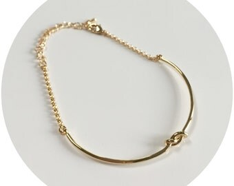 Simple Knot Chain Bracelet
