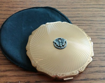 Stratton Compact with Marcasite Butterfly