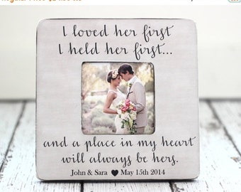 SALE Dad Wedding Thank You Gift Picture Frame I Held Her First I Loved Her First Personalized Gift for Father at Wedding