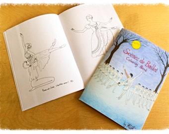 Scene de Ballet Colouring Book