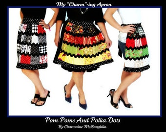 """My """"Charm""""-ing Apron Pattern by Pom Poms and Polkadots"""
