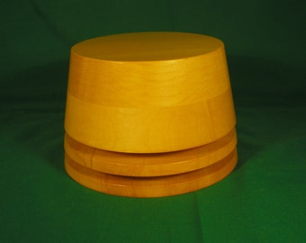 Wooden hat crown for millinery - FEZ Style -3 sizes