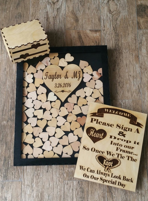 Unique Wedding Guestbook Sign And Drop In Frame Alternate