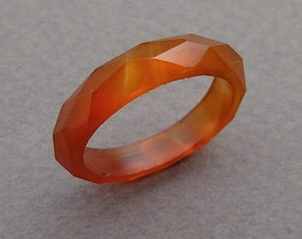 Banded agate band size 7