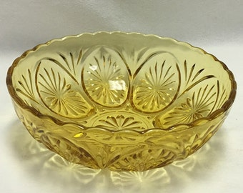 Amber Colored Serving Bowl