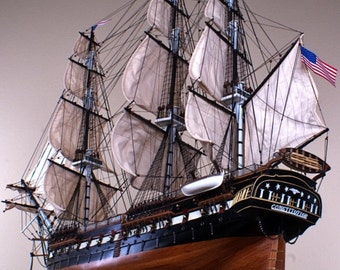 USS Constitution Wood Model Ship Replica