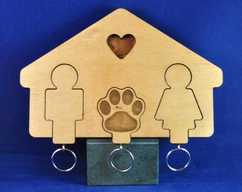 A Couples Best Friend Keyring's with Holder (Others Available - See other Store Items )