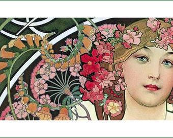 fabric panel - painting by Alphonse Mucha (16)